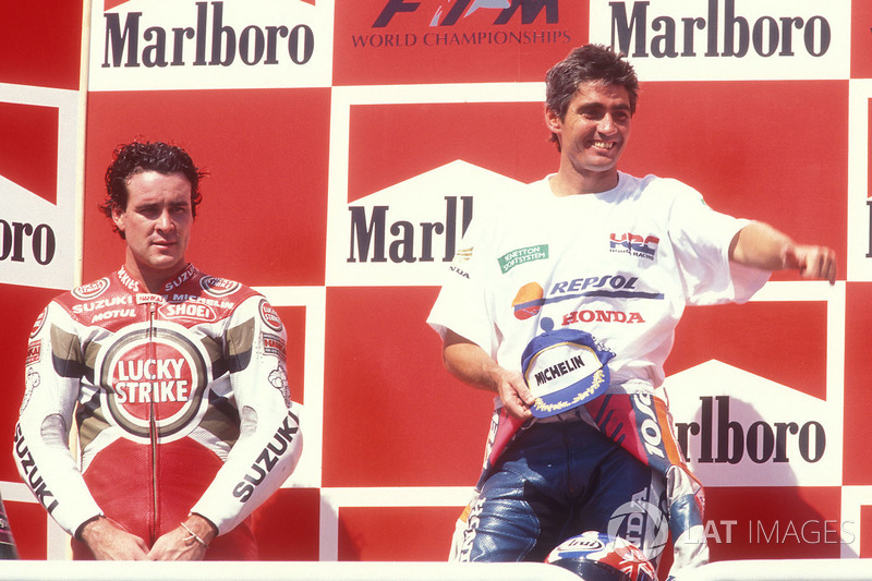1. Mick Doohan, Honda; 2. Daryl Beattie, Suzuki
