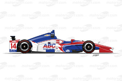 №14 Карлос Муньос, A.J. Foyt Enterprises Chevrolet