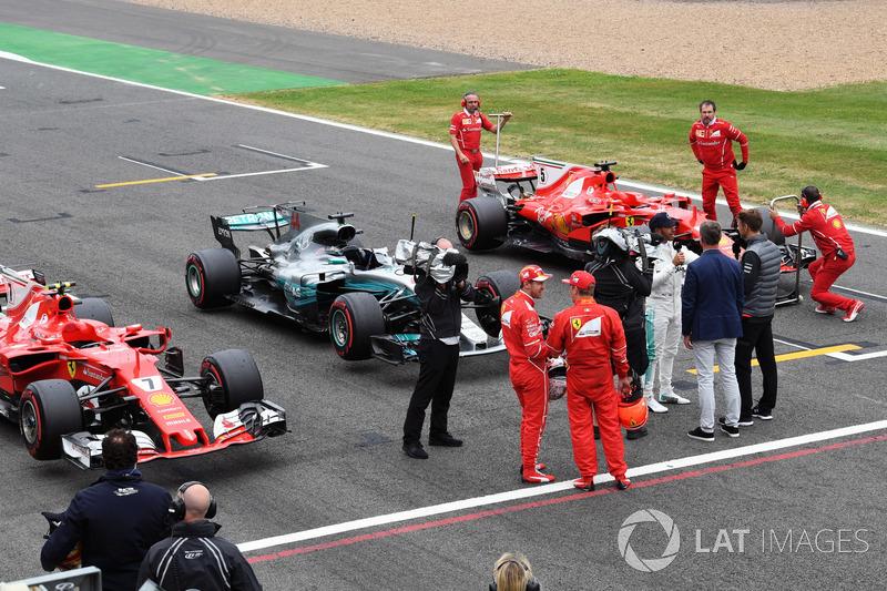 Кімі Райкконен, Ferrari, Льюіс Хемілтон, Mercedes AMG F1, Себастьян Феттель, Ferrari, Дженсон Баттон, McLaren