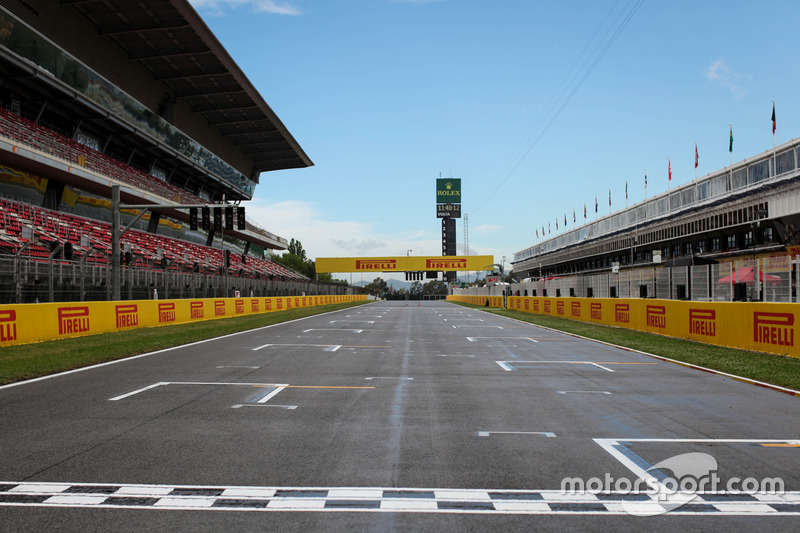 Start / Finish line and Track View