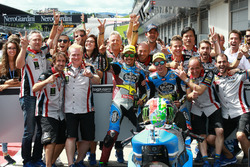 Franco Morbidelli, Marc VDS, Alex Marquez, Marc VDS celebrate with the team