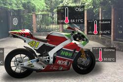 Températures de l'Aprilia RS-GP indiquées par réalité augmentée