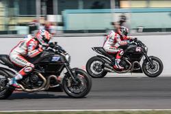 Andrea Dovizioso, Ducati Team et Casey Stoner, Ducati Team