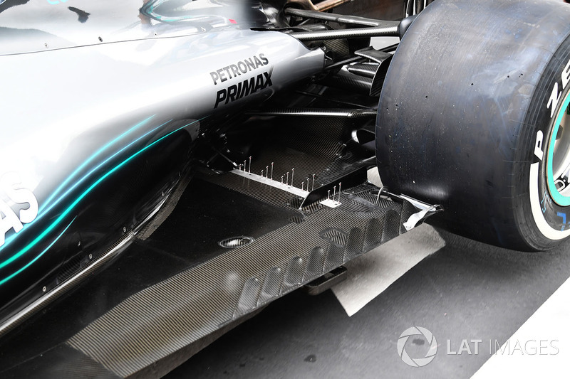 Mercedes-AMG F1 W09 EQ Power detalle del piso trasero