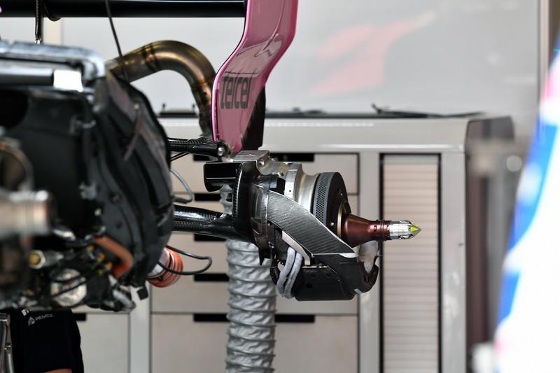 Force India VJM11 rear wheel hub
