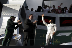 Lewis Hamilton, Mercedes-AMG F1 celebrates on the podium