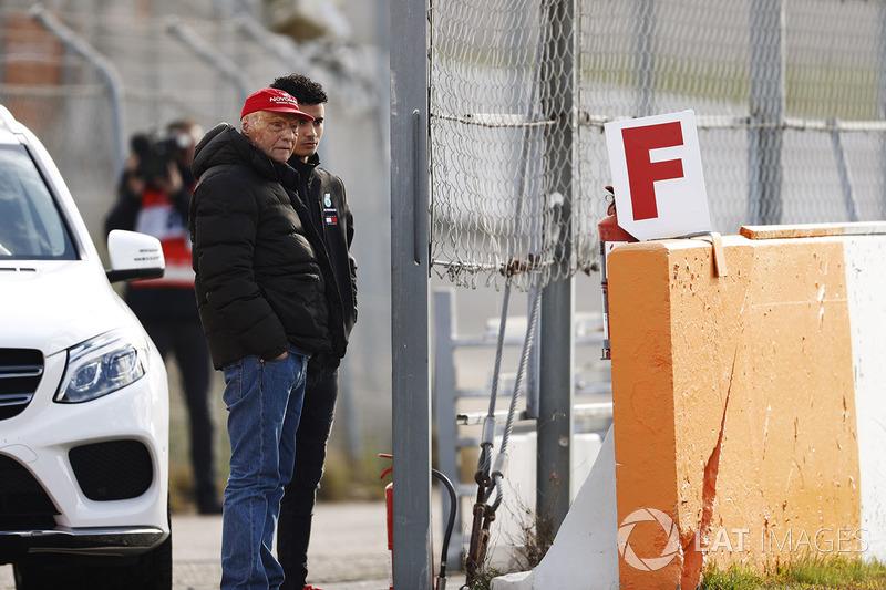 Niki Lauda, Non-Executive Chairman, Mercedes AMG F1, Pascal Wehrlein.