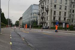 Trabajos de construcción en la pista en Zurich