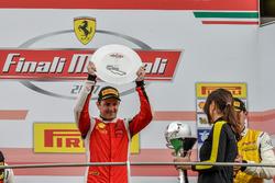 Podium Trofeo Pirelli: Race winner #8 Octane 126 Ferrari 488: Fabio Leimer