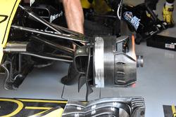 Vue détaillée d'un frein avant de Renault Sport F1 Team R.S. 18