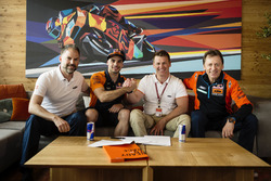 Jens Hainbach, Miguel Oliveira, Pit Beirer, Mike Leitner, Red Bull KTM Factory Racing