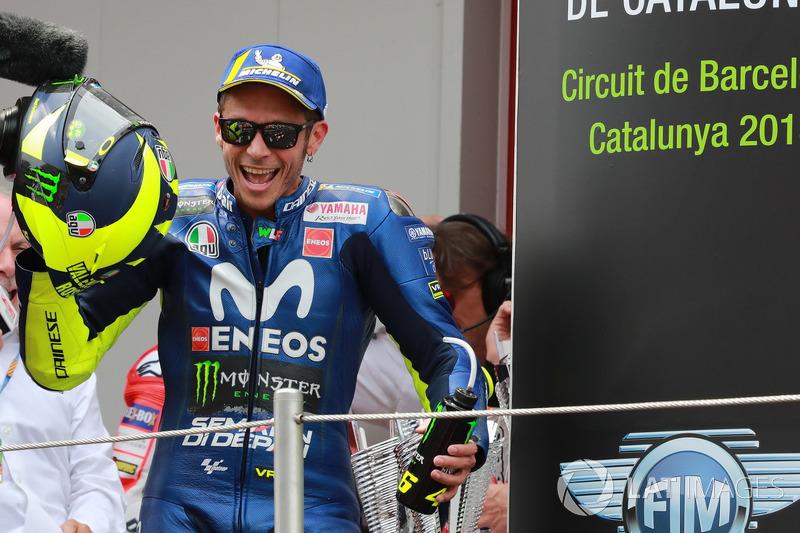 """Valentino Rossi: """"Estou feliz. É um bom resultado, porque depois dos treinos era muito claro que as duas Ducatis e Márquez tinham um ritmo melhor"""""""