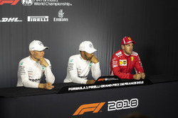 Valtteri Bottas, Mercedes-AMG F1, Lewis Hamilton, Mercedes-AMG F1 and Sebastian Vettel, Ferrari in the Press Conference