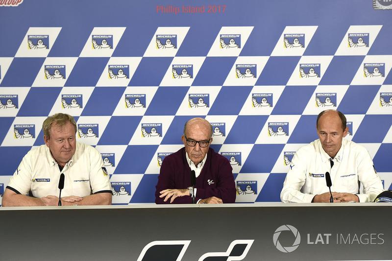 Паскаль Куаснон, Michelin, Кармело Еспелета, генеральний директор Dorna Sports, Ніколас Губерт, Michelin