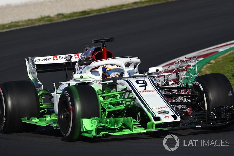Marcus Ericsson, Alfa Romeo Sauber C37, con parafina