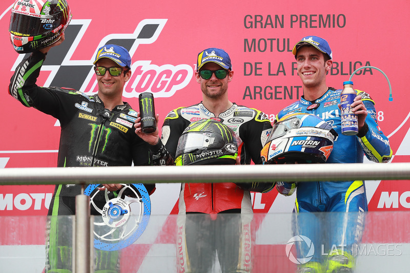 #2 GP d'Argentine - Podium : Cal Crutchlow, Johann Zarco, Álex Rins