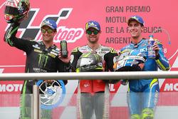 Podium: race winner Cal Crutchlow, Team LCR Honda, second place Johann Zarco, Monster Yamaha Tech 3, third place Alex Rins, Team Suzuki MotoGP