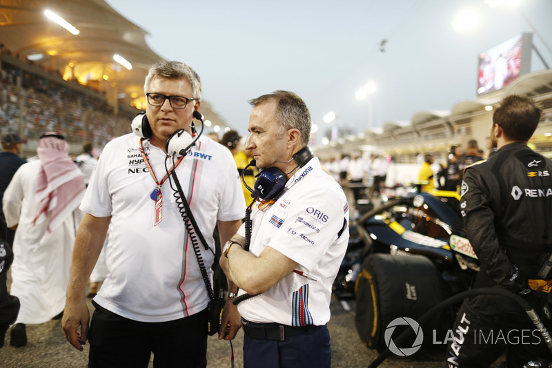 Otmar Szafnauer, Chief Operating Officer, Force India, Paddy Lowe, Williams Martini Racing