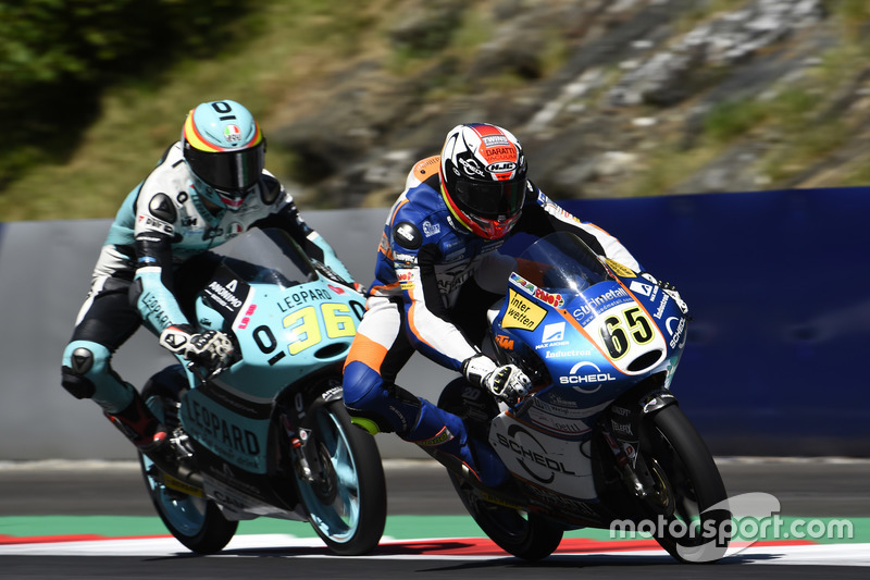 Philipp Öttl, Schedl GP Racing, KTM; Joan Mir, Leopard Racing, KTM