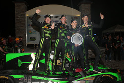 Overall winners Johannes van Overbeek, Scott Sharp, Ed Brown, Pipo Derani, ESM Racing