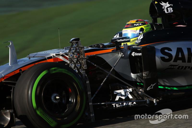 Sergio Pérez, Sahara Force India F1 VJM09 funcionamiento equipo de sensor