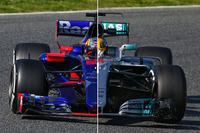 Komparasi Toro Rosso STR12 vs Mercedes W08 di trek