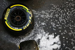 Pirelli tyre in the paddock