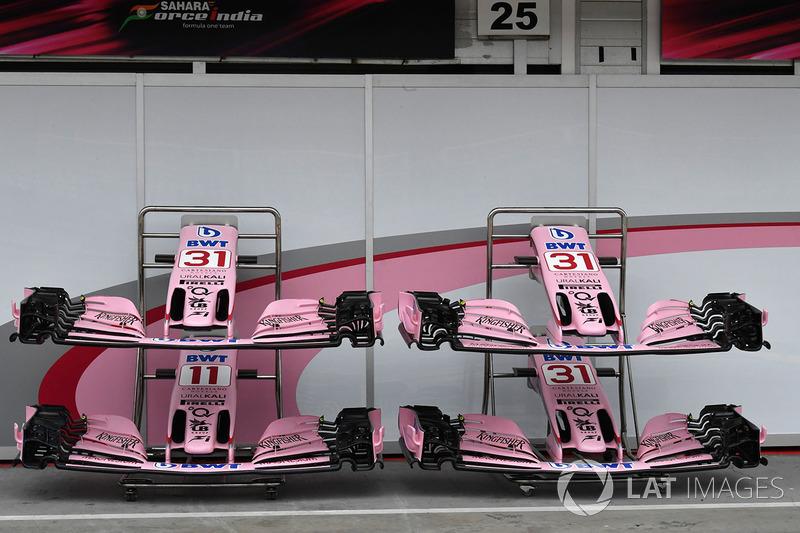 Force India VJM10: ali anteriori per il GP d'Ungheria