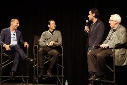 Helio Castroneves y Tony Kanaan celebran sus 20 años en  IndyCar con Dario Franchitti y Gary Gerould