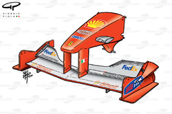 Ferrari F1-2000 front wing and nose