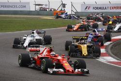 Кими Райкконен, Ferrari SF70H, Нико Хюлькенберг, Renault Sport F1 RS17, Фелипе Масса, Williams FW40, Даниил Квят, Scuderia Toro Rosso STR12