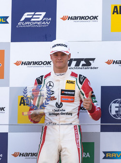 Podium, Rookie, Mick Schumacher, Prema Powerteam, Dallara F317 - Mercedes-Benz