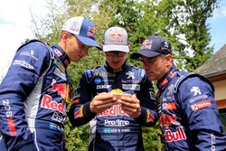 Timmy Hansen, Kevin Hansen, Sebastien Loeb, Team Peugeot-Hansen, Peugeot 208 WRX