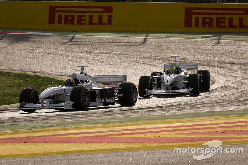 Patrick Friesacher, F1 Experiences 2-Seater driver and F1 Experiences 2-Seater passenger and Zsolt Baumgartner, F1 Experiences 2-Seater driver and F1 Experiences 2-Seater passenger