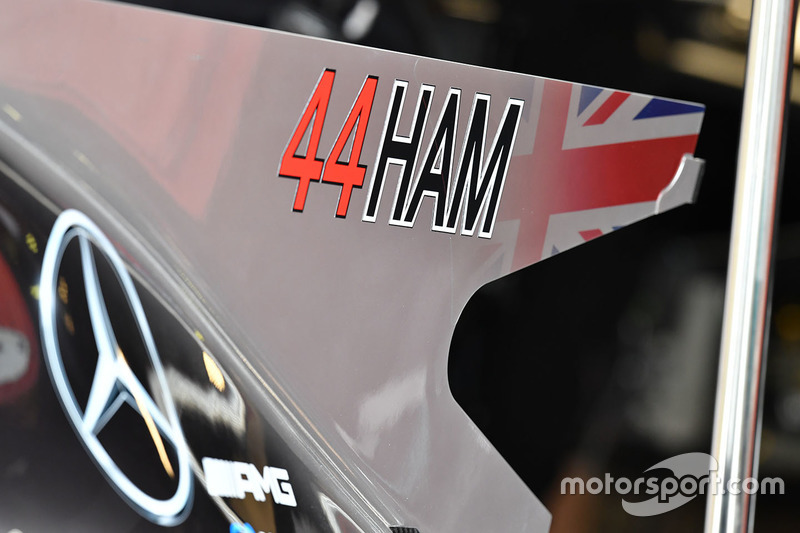 Mercedes AMG F1 F1 W08  detalle chasis
