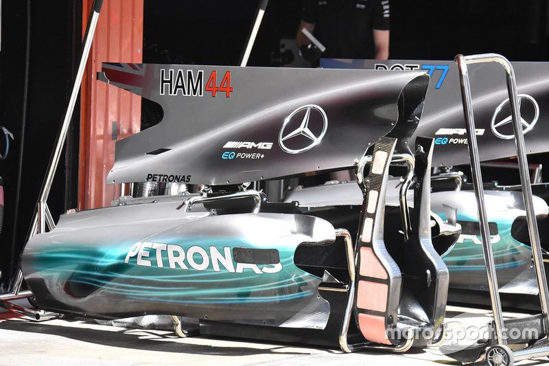 Lewis Hamilton, Mercedes AMG F1 W08 rear detail