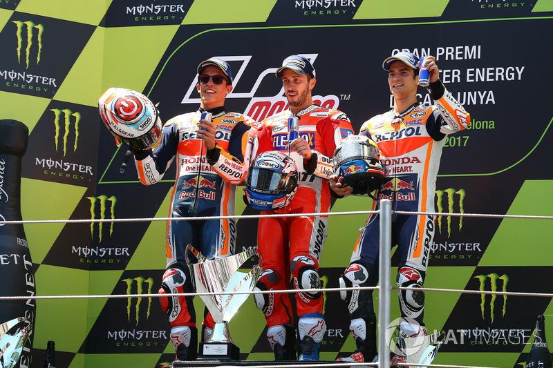 Tujuh balapan dan tujuh podium dengan pembalap berbeda
