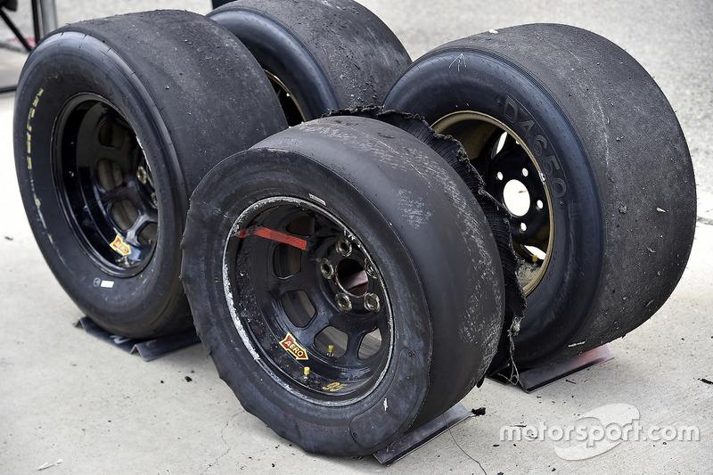 Verschlissene Reifen