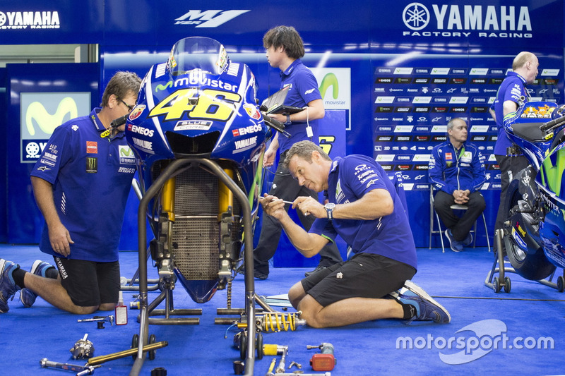 Box von Valentino Rossi, Yamaha Factory Racing