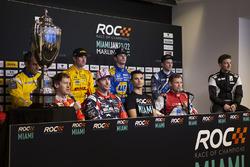Press Conference with Sebastian Vettel, Travis Pastrana, Pascal Wehrlein, Tom Kristensen, Juan Pablo Montoya, Ryan Hunter-Reay, Alexander Rossi, Scott Speed, Stefan Rzadzinski