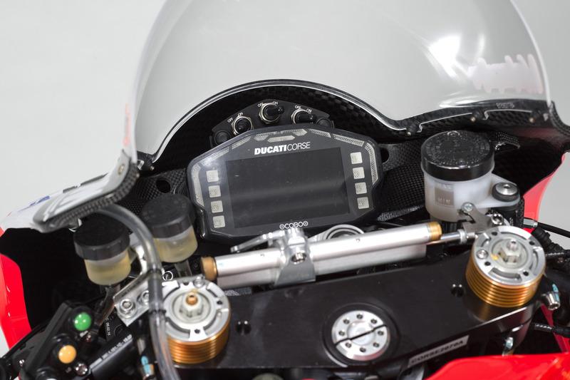 Detail vom Bike von Marco Melandri, Ducati Team