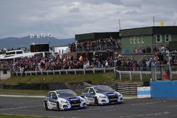 Jason Plato, Team BMR Subaru Levorg, Ashley Sutton, Team BMR Subaru Levorg