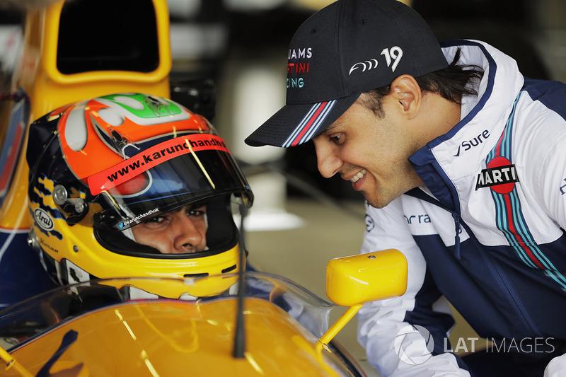 Karun Chandhok, Felipe Massa