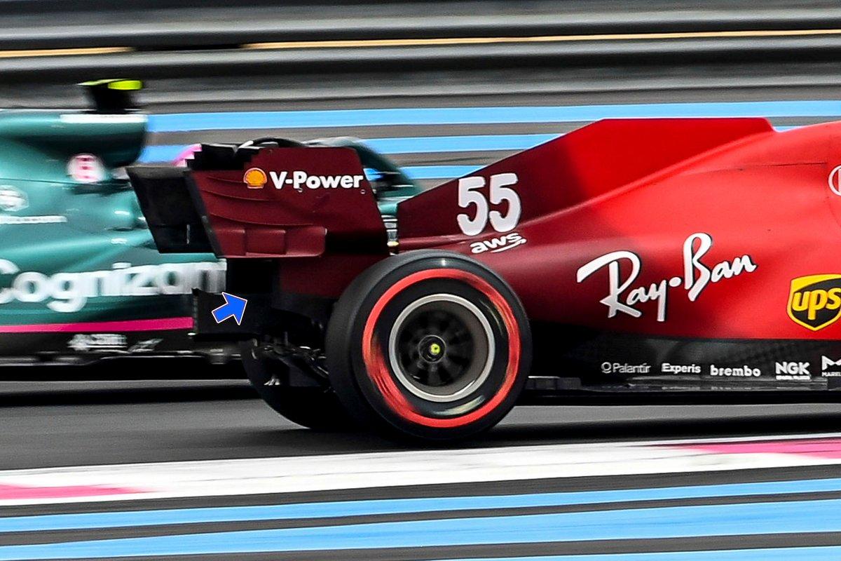 Ferrari SF21 rear wing