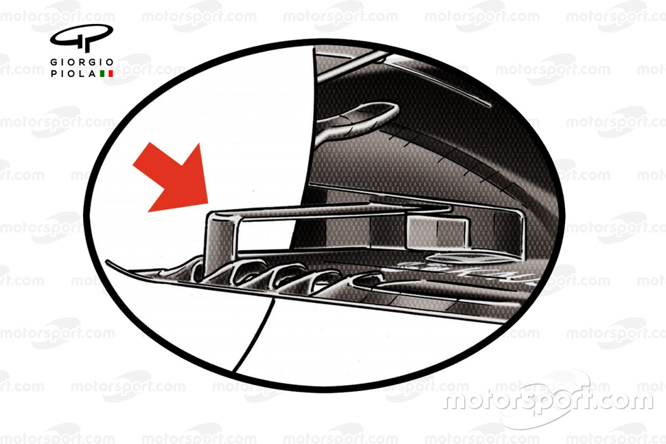 The floor's trailing edge was curtailed by F1's 2021 regulations.