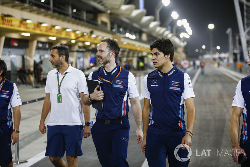 Track walk with Lance Stroll, Williams Racing
