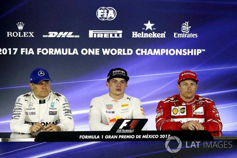 Meksika GP - Kazanan Max Verstappen, 2. Valtteri Bottas, 3. Kimi Raikkonen