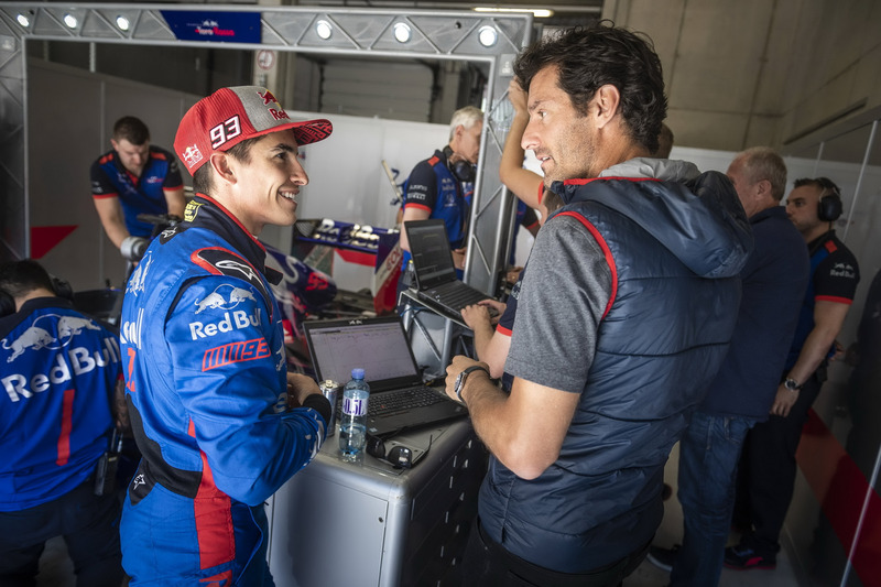 Marc Marquez and Mark Webber