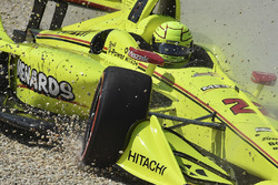 Abflug: Simon Pagenaud, Team Penske Chevrolet