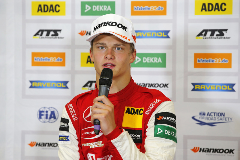 Conférence de presse, Ralf Aron, PREMA Theodore Racing Dallara F317 - Mercedes-Benz
